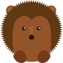 Animal Kingdom, wildlife, zoo, hedgehog, Animals SaddleBrown icon