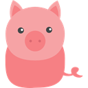 Animals, zoo, Animal Kingdom, pig, wildlife LightPink icon