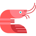 sea, Prawn, Crustacean, Animals Black icon