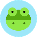 frog, Animal Kingdom, wildlife, Amphibian, Animals PaleTurquoise icon