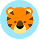 Tiger, Animals, zoo, Animal Kingdom, wildlife PaleTurquoise icon