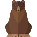 bear, Animal Kingdom, Animals, zoo, wildlife DarkOliveGreen icon