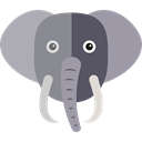 wildlife, elephant, Animal Kingdom, zoo, Animals DarkGray icon