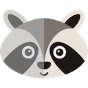 zoo, wildlife, Animal Kingdom, Animals, racoon Black icon