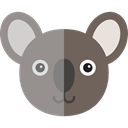 Animal Kingdom, zoo, Animals, wildlife, koala Gray icon
