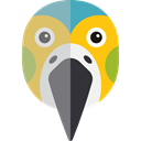 wildlife, zoo, Animals, Animal Kingdom, parrot Black icon