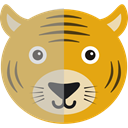 Animals, zoo, wildlife, Tiger, Animal Kingdom Goldenrod icon