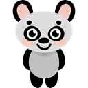 wildlife, zoo, Animal Kingdom, panda, Animals Black icon