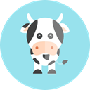 Farm, wildlife, Animal Kingdom, zoo, cow, Animals LightBlue icon