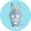 Donkey, Animal Kingdom, Farm, wildlife, zoo, Animals LightBlue icon