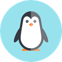 zoo, wildlife, Penguin, Animals, Animal Kingdom LightBlue icon
