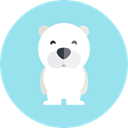 polar bear, zoo, Animal Kingdom, Animals, wildlife LightBlue icon