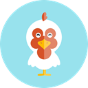 Animal Kingdom, Farm, zoo, wildlife, hen, Animals LightBlue icon