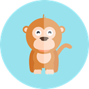 zoo, Animal Kingdom, wildlife, Animals, monkey LightBlue icon