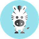 Zebra, zoo, wildlife, Animal Kingdom, Animals Icon