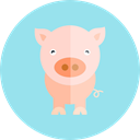 Farm, Animal Kingdom, Animals, pig, wildlife, zoo LightBlue icon