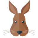 wildlife, Animals, Animal Kingdom, rabbit, zoo Black icon