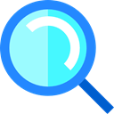 Tools And Utensils, detective, search, interface, zoom, Loupe, magnifying glass, Multimedia Option DodgerBlue icon