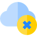 delete, remove, cancel, interface, Multimedia, Computing Cloud, Multimedia Option PowderBlue icon
