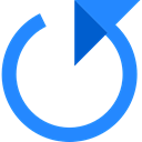Multimedia Option, Circular Arrow, Arrows, interface, refresh, Reload, Orientation, Direction DodgerBlue icon