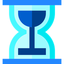 Hourglass, waiting, Clock, Tools And Utensils, time PaleTurquoise icon