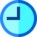 Tools And Utensils, Wait, hour, time, Clock Turquoise icon