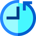 Clock, counterclockwise, Wait, Tools And Utensils, hour, Time Left Turquoise icon