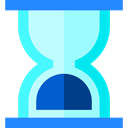 time, Hourglass, Clock, Tools And Utensils, waiting PaleTurquoise icon
