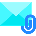 Email, Note, envelope, Multimedia, mail, Attach, Message Turquoise icon