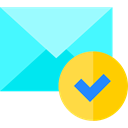 envelope, Message, Multimedia, mail, Email, Note, Checked Turquoise icon