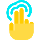 Finger, touch screen, Multimedia Option, tap, Hand, Gestures SandyBrown icon