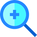 magnifying glass, Tools And Utensils, Multimedia, tool, Loupe, lens, Zoom in DodgerBlue icon