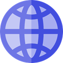 World Grid, international, Maps And Flags, worldwide, Earth Grid, global, Geography, shapes LightSteelBlue icon