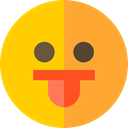 Face, Social, Emoticon, happy, smile, joke, shapes, friendly Gold icon