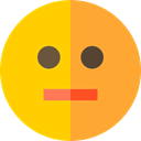 Circular, Face, mouth, Emoticon, straight, smiley, shapes, Emotion Gold icon