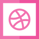 logotype, dribbble, Logos, graphic design, Logo, social network, social media HotPink icon