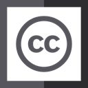 license, Creative Commons, Squares, Logo DimGray icon