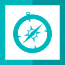 Browser, compass, Apple, Logo, safari, Squares DarkTurquoise icon