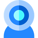Webcam, technology, Videocall, Cam, video chat, Videocam DodgerBlue icon
