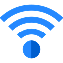 Multimedia, internet, wireless, technology, Connection, Wifi, Computer DodgerBlue icon