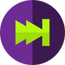 music player, next, Multimedia, video player, Multimedia Option, skip MidnightBlue icon
