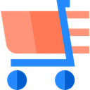 moving, online store, shopping cart, Cart, Supermarket, commerce, Shopping Store LightSalmon icon