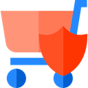 online store, commerce, Shopping Store, shopping cart, Cart, Supermarket, security OrangeRed icon