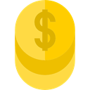 Bank, Currency, commerce, Cash, coin, Dollar, banking, Business, Money Gold icon