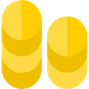 Business, Currency, stack, Money, Stacks, Bank, Wealthy, commerce, Coins Gold icon