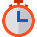 timer, commerce, education, stopwatch, time, Stopwatches, Control, Tools And Utensils, Timers OrangeRed icon