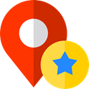 placeholder, Map Location, Map Point, Gps, Favorite, pin, signs, map pointer OrangeRed icon
