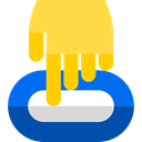 Gps, Map Location, Map Point, Hand, Finger, position, map pointer, placeholder, pin SandyBrown icon