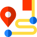 pin, Finish, Route, start, Gps, position, Map Point, Map Location, placeholder, signs, map pointer SandyBrown icon
