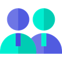 Business, Users, workers, Employees, people, stick man, group DarkTurquoise icon